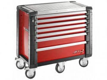 Jet.7M5 Roller Cabinet 7 Drawer Red